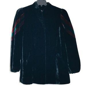 SASSON **Vintage ** Faux Fur Stripe Coat Size 14